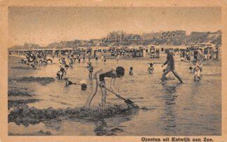 Ansichtkaart Katwijk aan Zee Groeten uit 1947 Strand en Boulevard HC24016