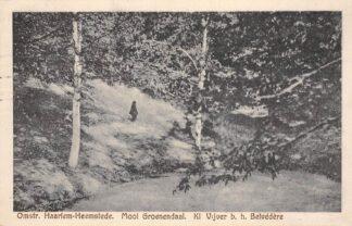 Ansichtkaart Haarlem Heemstede Mooi Groenendaal Kl. Vijver b.h. Belvedère HC24019