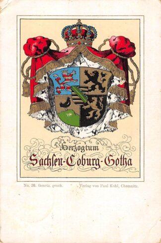Ansichtkaart Duitsland Wapenschild Wappen Herzogtum Sachsen-Coburg-Gotha 1901 Deutschland Europa HC24054