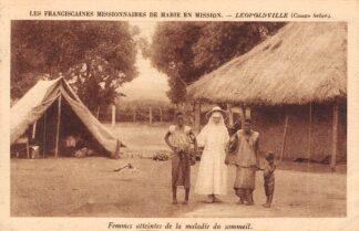 Ansichtkaart Conco Belge Leopoldville Femmes atteintes de la maladie du sommeil Les Franciscaines Missionaires de Marie en Mission Frankrijk France België Afrika HC24075