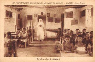 Ansichtkaart Congo Belge Basoko La classe dans le chimbeck Les Franciscaines Missionaires de Marie en Mission Frankrijk France België Afrika HC24076