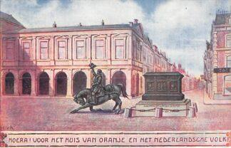 Ansichtkaart 's-Gravenhage Hoera! voor het Huis van Oranje en het Nederlandsche Volk!! Illustrator E.V.A. Koningshuis HC24091