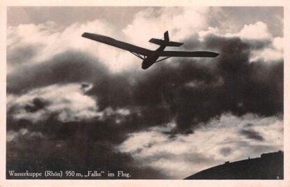 Ansichtkaart Duitsland Wasserkuppe Rhon 950 m. Falke im Flug Luftwaffe Luchtmacht Vliegtuigen Deutschland Europa HC24119