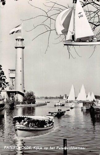 Ansichtkaart Paterswolde Kijkje op het Paterswoldsemeer Rondvaartboot Neptunus Zeil schepen 1961 HC24194