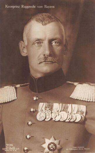 Ansichtkaart Duitsland WO1 1914-1918 Kronprinz Rupprecht von Bayern Militair Deutschland Europa HC24203