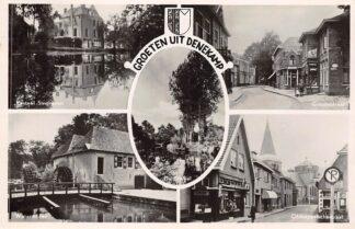Ansichtkaart Denekamp Groeten uit 1942 Kasteel Singraven Grootestraat Water molen Oldenzaalschestraat HC24225