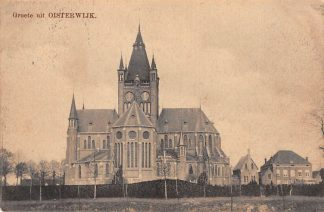 Ansichtkaart Oisterwijk Groete uit 1914 Kerk Tulp HC24234