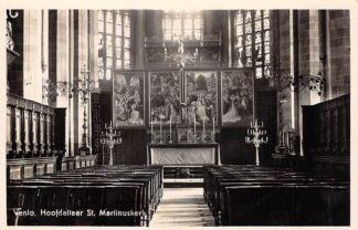 Ansichtkaart Venlo Hoofdaltaar St. Martinus kerk 1939 HC24245