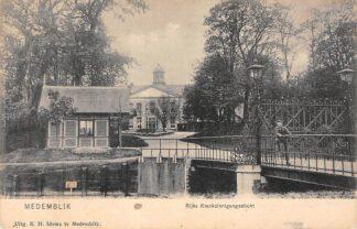 Ansichtkaart Medemblik Rijks Krankzinnigengesticht 1908 HC24263