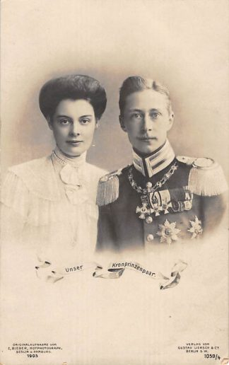Ansichtkaart Duitsland Unser Kronprinzenpaar Koningshuis 1905 Deutschland Europa HC24264