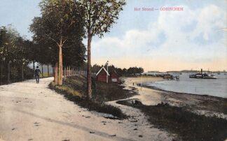 Ansichtkaart Gorinchem Het Strand Raderboot Binnenvaart schepen scheepvaart 1915 HC24277