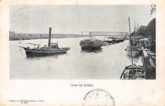 Ansichtkaart Zutphen IJsel bij Zutfen Sleepboot met sleep binnenvaart schepen Scheepvaart 1901 HC24280