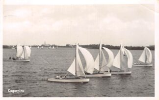 Ansichtkaart De Kaag Rijpwetering Kagerplas met zeilschepen 1951 HC24287