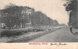 Ansichtkaart Smilde Meestersbrug Middenveld Drenthe Kleinrondstempel Leens 1907 HC24297