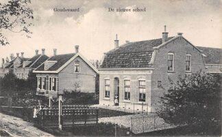 Ansichtkaart Goudswaard De Nieuwe School 1912 Hoeksche Waard HC24298