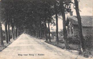 Ansichtkaart Roden Werg naar Norg Noordenveld Drenthe 1929 HC24304