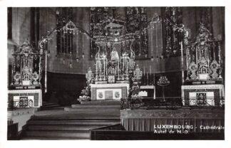 Ansichtkaart Luxemburg Luxembourg Cathedrale Autel de N.-D. Fotokaart 1956 Europa HC24311