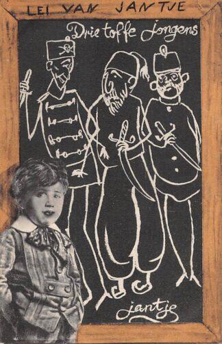 Ansichtkaart WO1 1914-1918 Lei van Jantje Drie toffe jongens De Centralen Duitsland Oostenrijk - Hongarije en Turkije Deutschland Osterreich Turkye Europa HC24333