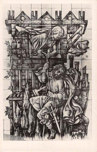 Ansichtkaart Rijswijk (ZH) Kapel Maria van Altijd Durende Bijstand St. Bonifacius Kerk Michol redt David 's-Gravenhage HC24346