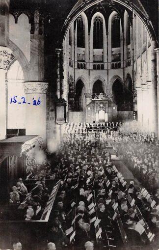 Ansichtkaart 's-Gravenhage Kerk dienst op 15 februari 1926 in bijzijn Koningin en Prins Koningshuis Fotokaart HC24352