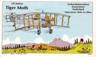 Ansichtkaart Zoetermeer CB Station Tiger Moth Ambachtsherenlaan Operators Bob en Eline Vliegtuigen Luchtvaart HC24372