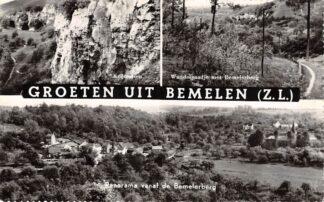 Ansichtkaart Bemelen (ZL) Groeten uit Bemelen Krijtrotsen Wandelpaadje met Bemelerberg Panorama Eijsden Margraten HC24373