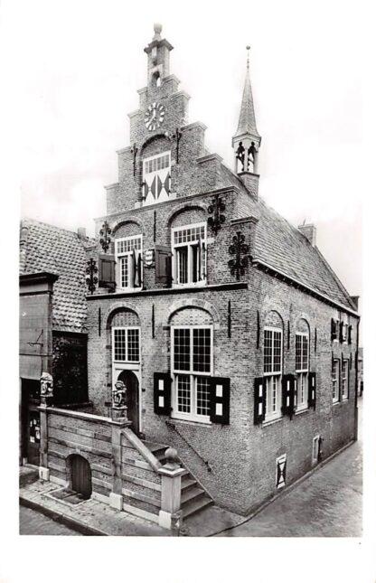 Ansichtkaart Haastrecht Gemeentehuis 1963 Krimpenerwaard HC24391