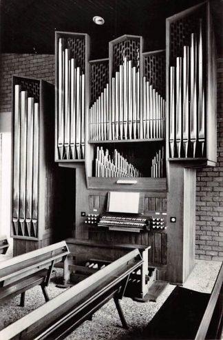 Ansichtkaart Oudeschoot Friesland Gereformeerde Kerk Orgel 1967HC24397
