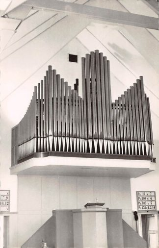 Ansichtkaart Santpoort Gereformeerde Kerk Orgel Dispositie Haarlem HC24400