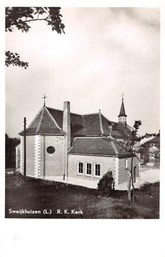 Ansichtkaart Sweikhuizen Sweijkhuizen Limburg R.K. Kerk 1962 Sittard Geleen HC24401