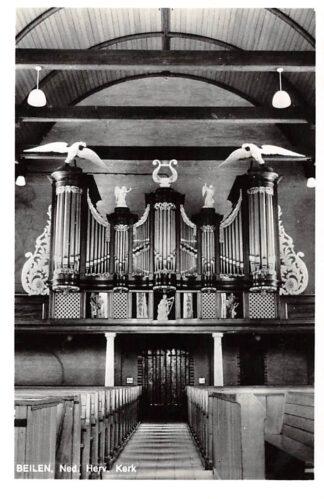 Ansichtkaart Beilen Ned. Hervormde Kerk Orgel Dispositie 1969 HC24405