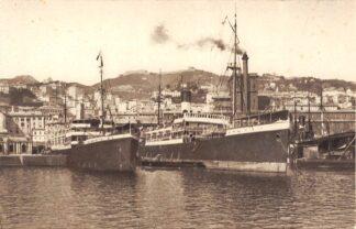 Ansichtkaart Italië Genova Il Porto Haven met schepen Scheepvaart Italia Europa HC24414
