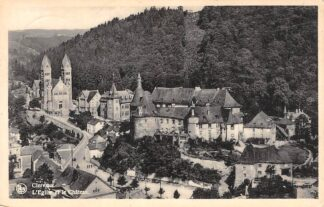Ansichtkaart Luxemburg Luxembourg Clervaux L'Eglise et le Chateau 1951 Europa HC24443