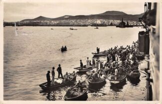 Ansichtkaart Canarische Eilanden Las Palmas Fotokaart jaren 30 Parlevinkers bij zeeschip Spanje España Afrika Europa HC24455