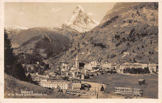 Ansichtkaart Zwitserland Zermatt et le Mont Cervin Trein 1930 Spoorwegen Schweiz Suisse Switzerland Europa HC24456