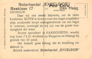 Ansichtkaart 's-Gravenhage Reclame Boterhandel Excelsior Beeklaan 17 Den Haag HC24488