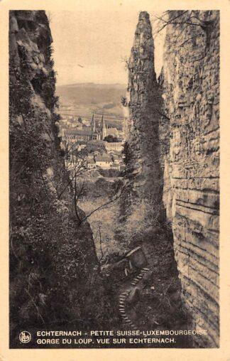 Ansichtkaart Luxemburg Luxembourg Echternach Petite Suisse Luxembourgeoise Gorge du Loup Vue sur Echternach jaren 30 Europa HC24498