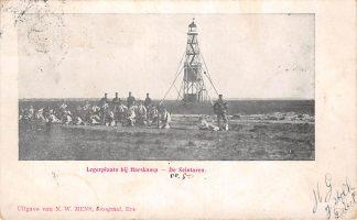 Ansichtkaart Legerplaatsbij Harskamp De Seintoren met soldaten Militair 1905 Veluwe HC24501