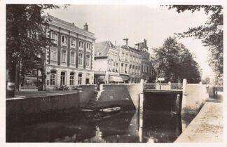 Ansichtkaart Gouda Westhaven met Postkantoor 1946 HC24517