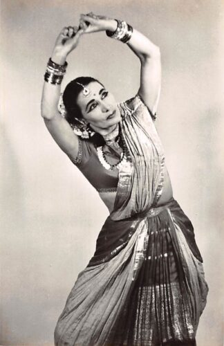 Ansichtkaart Amsterdam Kon. Inst. v.d. Tropen Indiase danseres Mohini Dewi India Azië 1958 HC24522