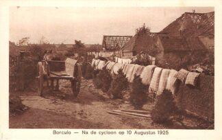Ansichtkaart Borculo Gereinigd beddengoed Na de cycloon op 10 Augustus 1925 HC24560