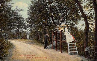 Ansichtkaart Doorwerth Dunobank met dames Italiaanscheweg 1908 Renkum HC24585