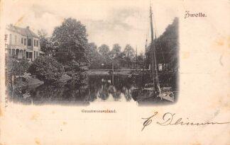 Ansichtkaart Zwolle Grootweezenland Binnenvaart schepen Scheepvaart 1900 HC24595