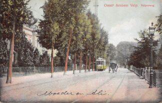 Ansichtkaart Omstr. Arnhem Velp Velperweg met tram 1913 HC24603