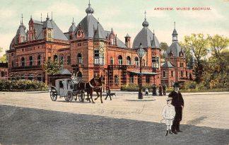 Ansichtkaart Arnhem Musis Sacrum Paard en wagen 1909 HC24606