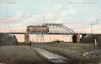 Ansichtkaart Haarlem - Zandvoort Electrische Tram Spoorbrug 1910 HC24624