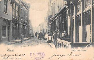 Ansichtkaart Gouda Lange Groenendaal hoek Naaierstraat Achter de Vischmarkt 1903 Vivat No. 2752. HC24626