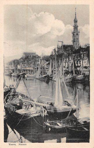 Ansichtkaart Veere Haven met vissers schepen Noord-Beveland HC24679
