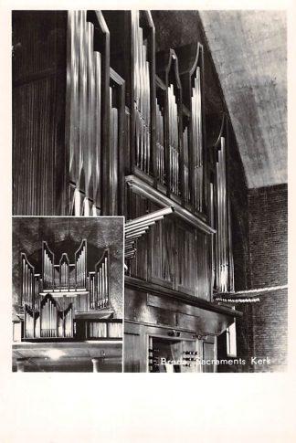 Ansichtkaart Breda Sacraments kerk Flentrop Orgel Dispositie 1958 HC24689
