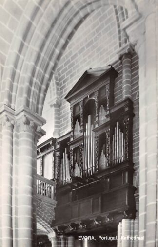 Ansichtkaart Portugal Evora Kathedraal Orgel uit 1562 gerestaureerd door Flentrop in 1967 Dispositie Kerk Europa HC24696